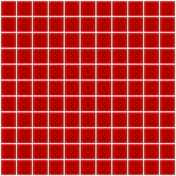 1 Inch Deep Tomato Red Glass Tile