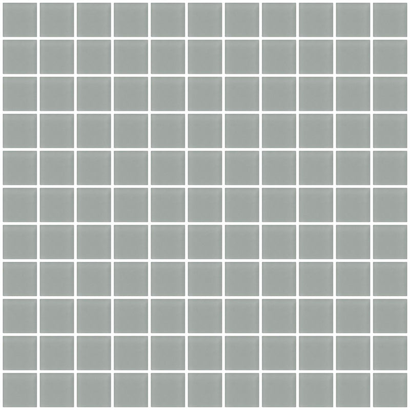 1 Inch Gray Frosted Glass Tile