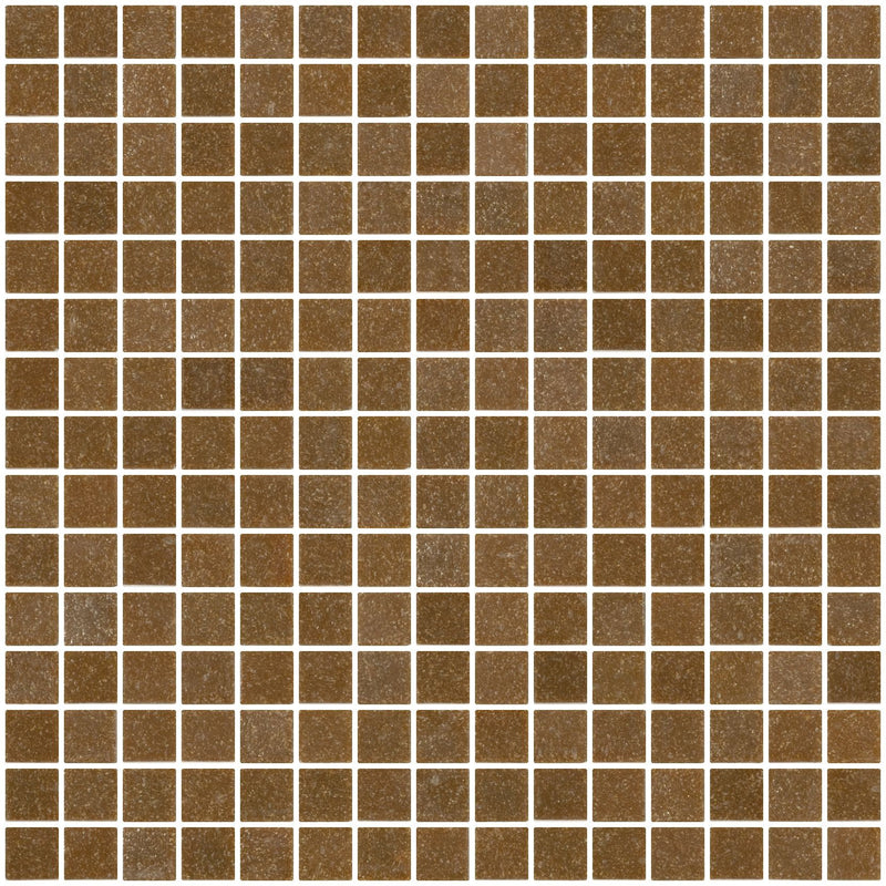 3/4 Inch Dark Caramel Brown Glass Tile