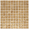 1 Inch Champagne Shimmer Metallic Glass Tile