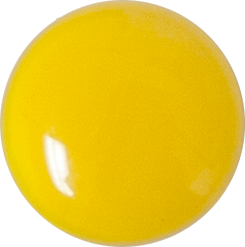 1 Inch Round Sunflower Yellow Opaque Fused Glass Accent Tile