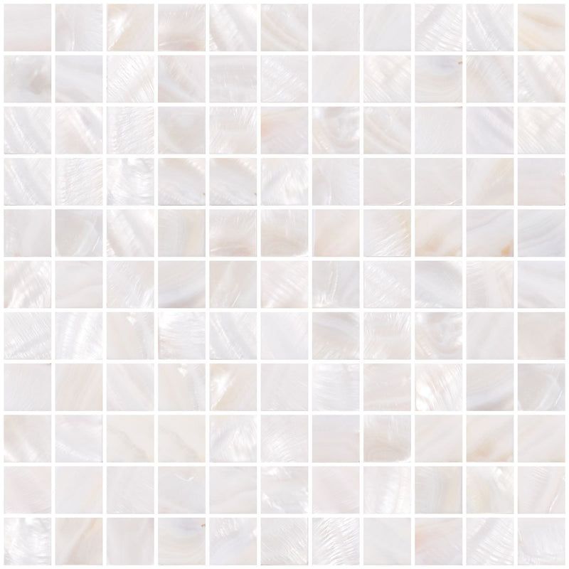 1 Inch White Shell Tile