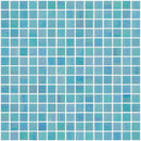 3/4 Inch Aqua Blue Shimmer Iridescent Glass Tile