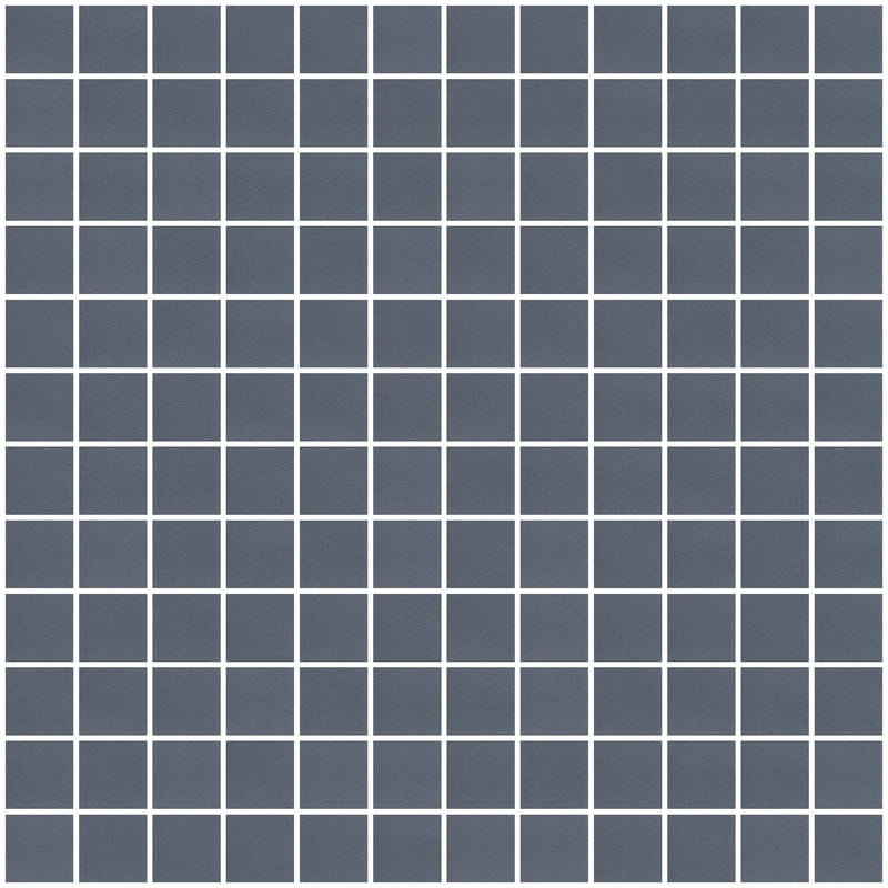 1 Inch Frosted Dark Gray Mirror Glass Tile