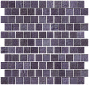 1 Inch Violet Blue Slate Metallic Glass Tile Reset In Offset Layout