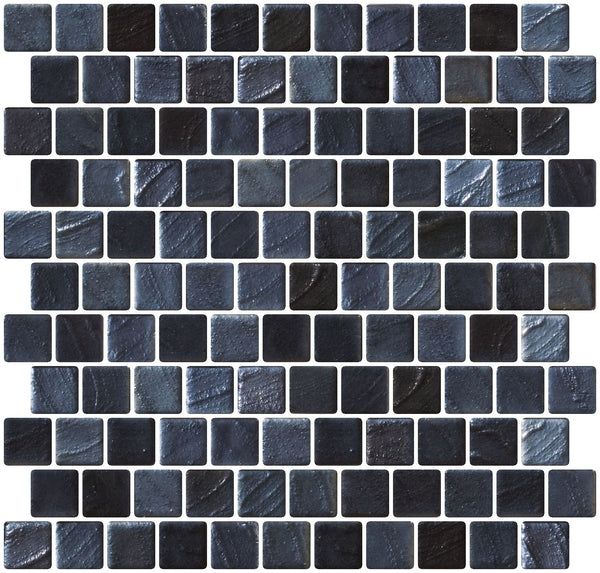 1 Inch Stainless Steel Gray Iridescent Recycled Glass Tile