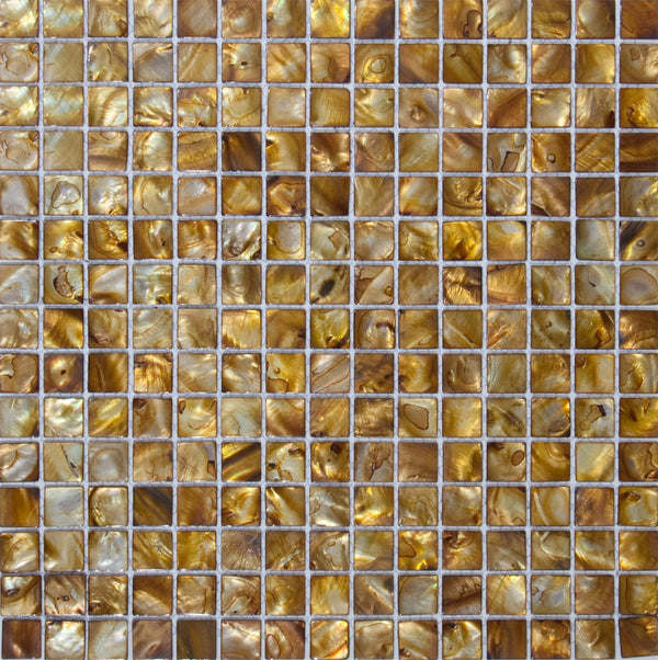 3/4 Inch Golden Brown Shell Tile