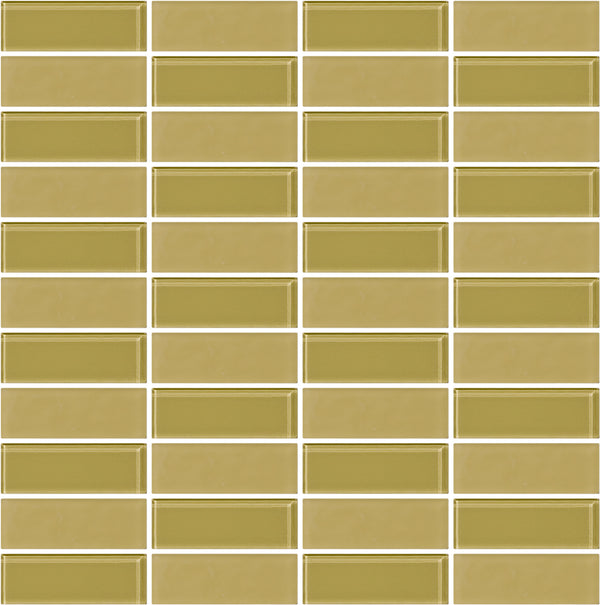 Tuxedo Light Green Olive Mosaic Tile Design