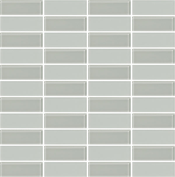 Tuxedo Light Gray Mosaic Tile Design