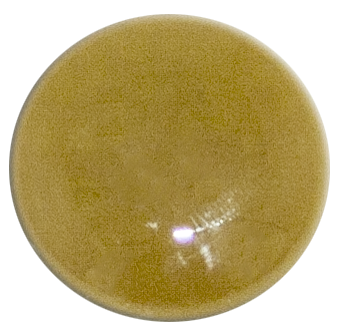 1-INCH ROUND Golden Green FUSED GLASS ACCENT TILE