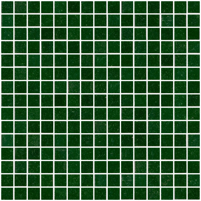 3/4 Inch Forest Green Glass Tile
