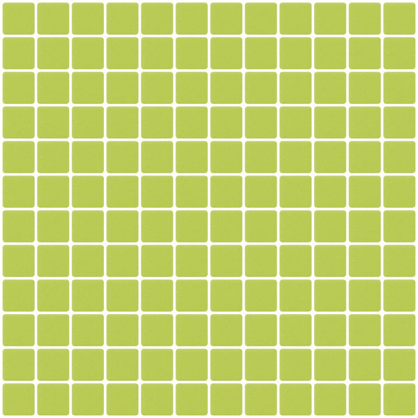 1 Inch Matte Lime Green Recycled Glass Tile