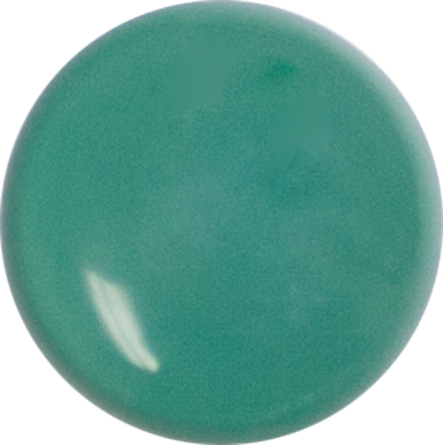 1 Inch Round Emerald Green Opaque Fused Glass Accent Tile