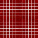 1 Inch Opaque Red Glass Tile