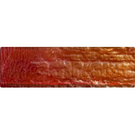 Sample of 1x3 Inch Red Iridescent Glass Subway Tile Stacked