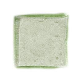 1 Inch Transparent Spring Green Glass Tile