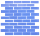 1x3 Inch Periwinkle Blue Glass Subway Tile