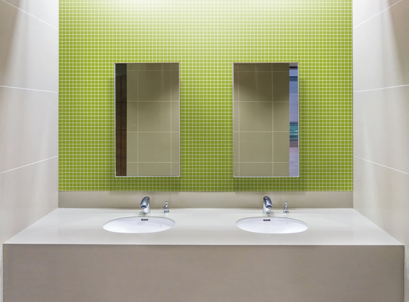 1 Inch Lime Green Glass Tile