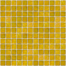 1 Inch Deep Sunshine Yellow Iridescent Glass Tile