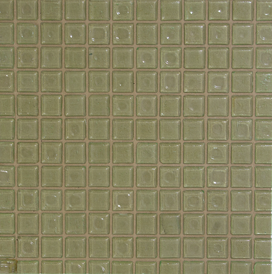 1 In Semi-Trans Soft Lime Green Glass Tile
