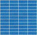 1x3 Inch Denim Blue Glitter Glass Subway Tile Stacked