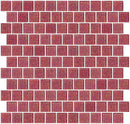 1 Inch Pink Glitter Glass Tile Offset