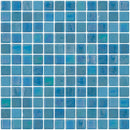 1 Inch Cornflower Blue Iridescent Recycled Glass Tile