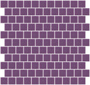 1 Inch Lavender Purple Frosted Glass Tile Reset In Offset Layout