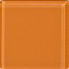Sample of 2x2 Inch Apricot Orange Glass Tile