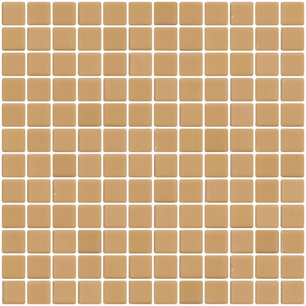 1 Inch Beige Brown Recycled Glass Tile