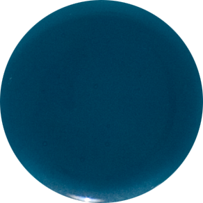 2 Inch Round Teal Semi-Transparent Fused Glass Accent Tile