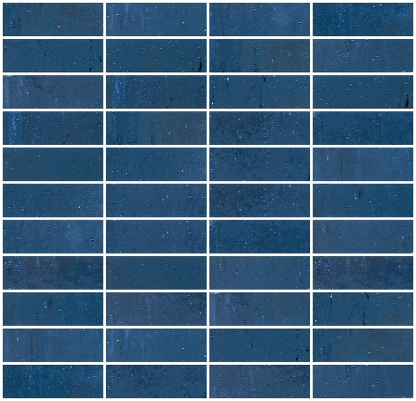 1x3 Violet Blue Mirror Glass Tile