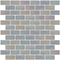 1x2 Inch Icy White Iridescent Glass Subway Tile