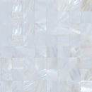 Quarter Sheet Sample of 3/4 Inch Crest White Shell Tile
