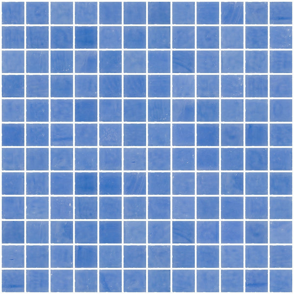 1 Inch Opaque Medium Blue Glass Tile