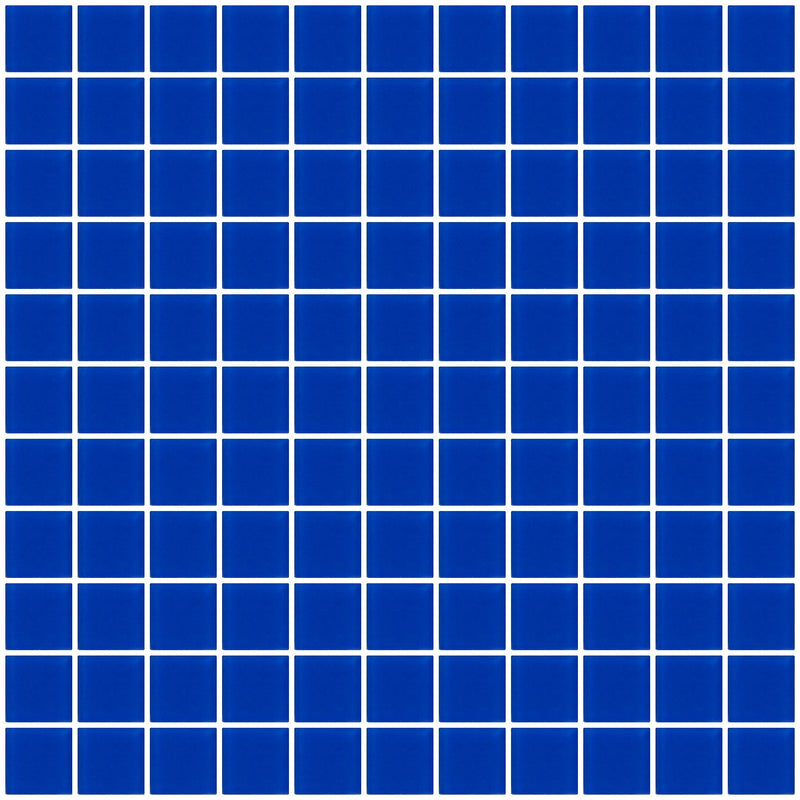 1 Inch Cobalt Blue Frosted Glass Tile