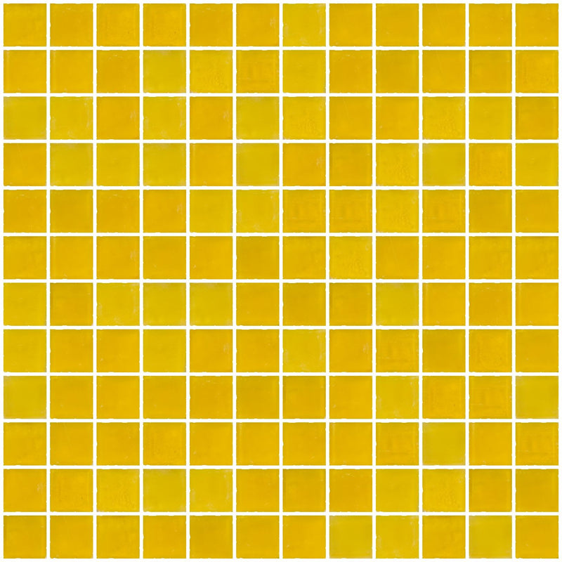 1 Inch Matte Deep Sunshine Yellow Glass Tile