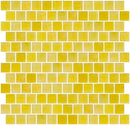 1 Inch Matte Sunshine Yellow Glass Tile Reset In Offset Layout