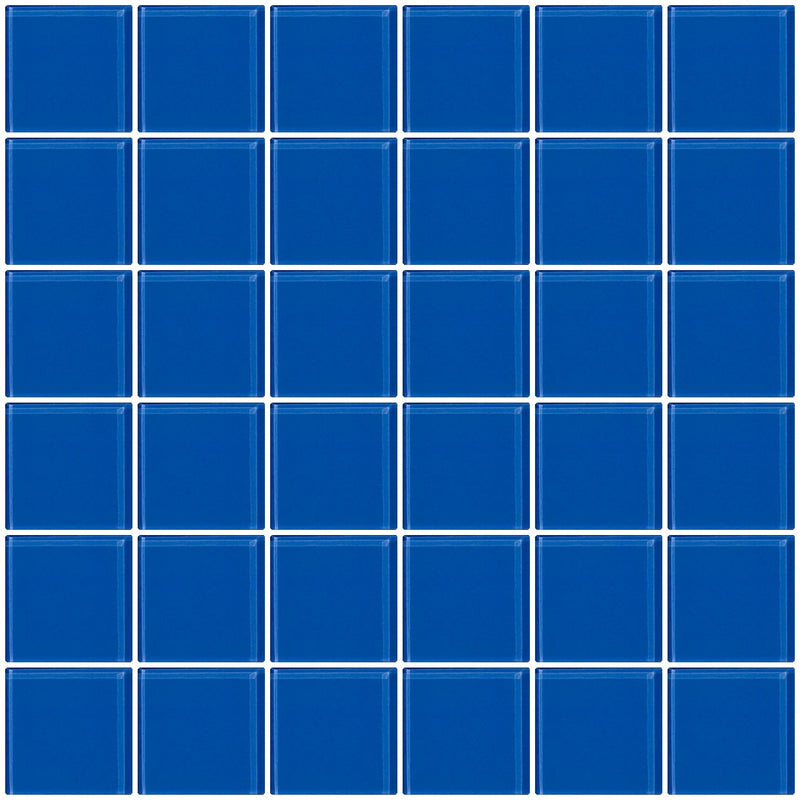 2x2 Inch Periwinkle Blue Glass Tile