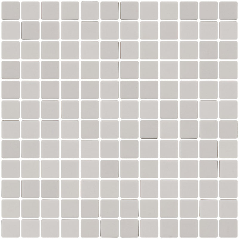 1 Inch Matte Light Gray Recycled Glass Tile