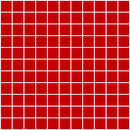 1 Inch Red Glass Tile