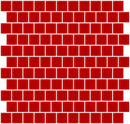 1 Inch Deep Tomato Red Glass Tile Reset In Offset Layout