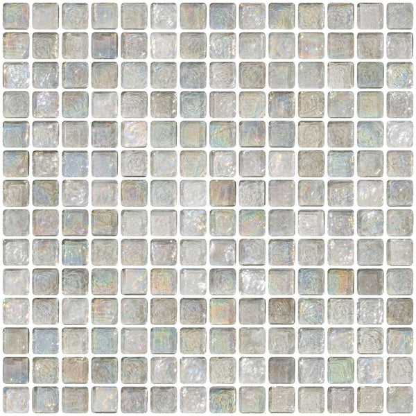 3/4 Inch Clear Iridescent Glass Tile