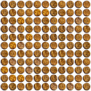 1 Inch Round Cinnamon Shimmer Brown Metallic Glass Tile