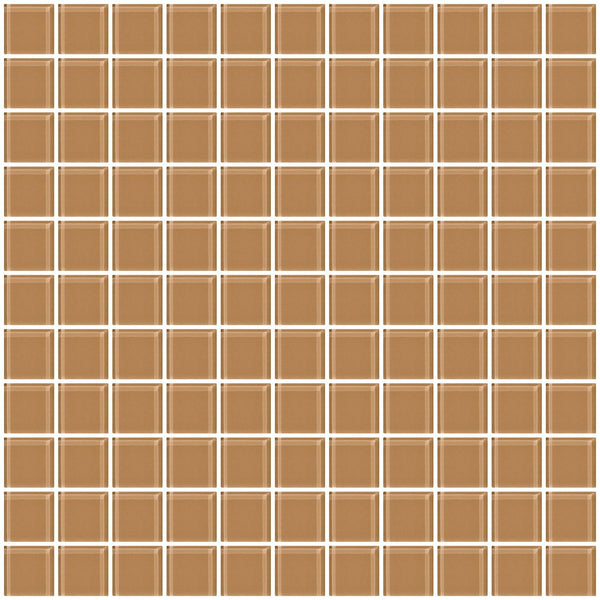 1 Inch Mushroom Brown Glass Tile