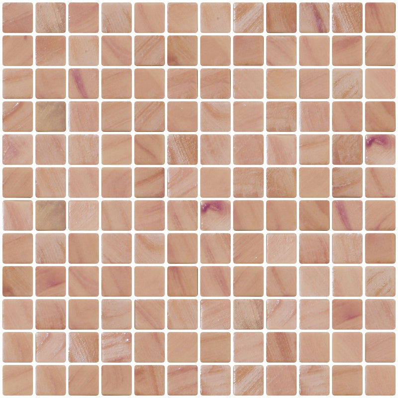 1 Inch Desert Pink Recycled Glass Tile