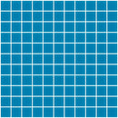 1 Inch Turquoise Blue Frosted Glass Tile