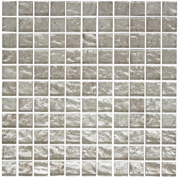 1 Inch Crushed Crystal Metallic Glass Tile