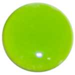 1-INCH ROUND SPRING GREEN OPAQUE FUSED GLASS ACCENT TILE