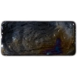 BLACK IRIDESCENT GLASS SUBWAY TILE